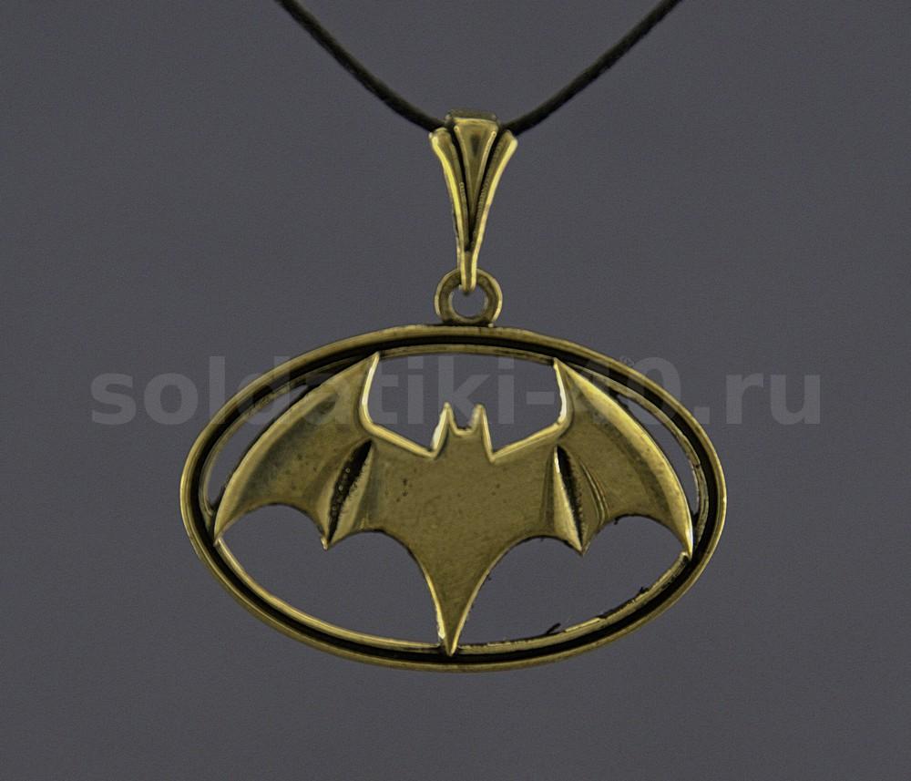 Бронзовый кулон Бэтмен