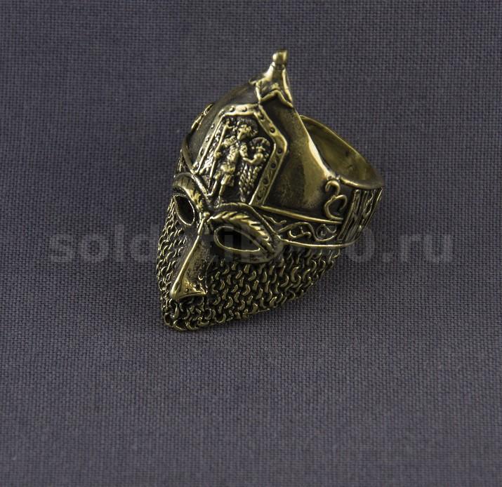 Кольцо шлем сова