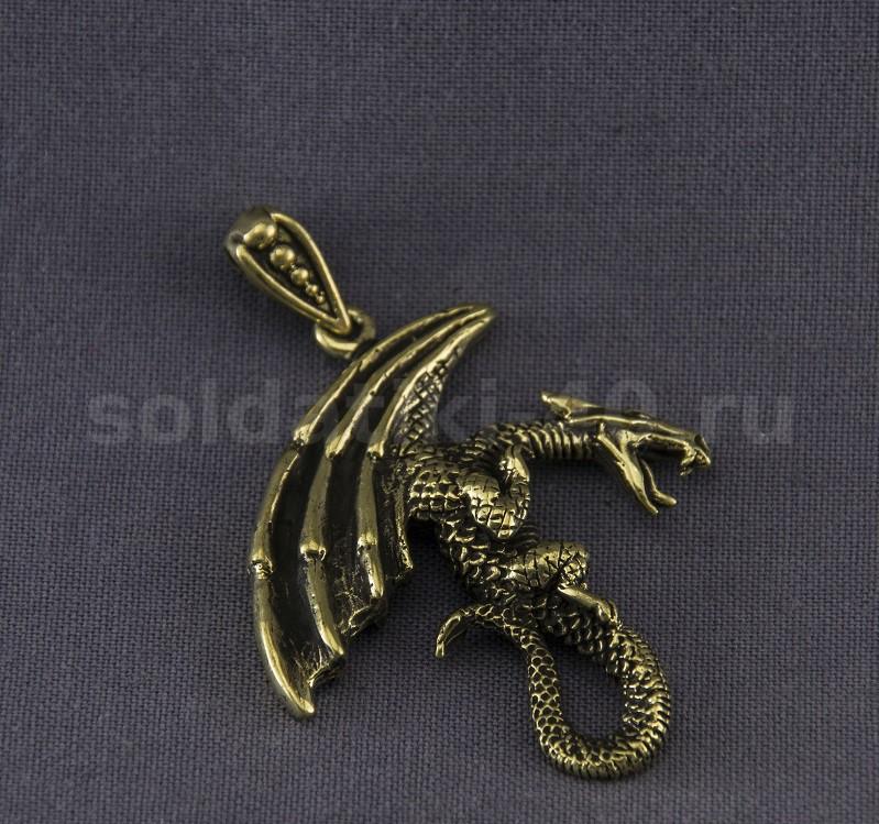 Кулон дракон Реал